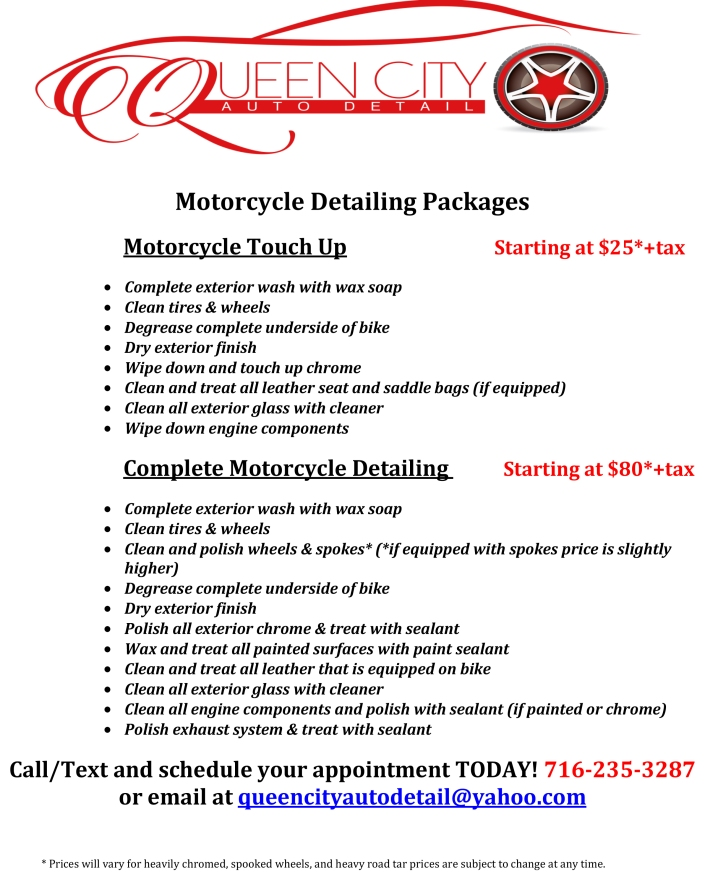 Motorcycle Detailing Queen City Auto Detail